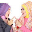 Two beautiful moslem woman having fun together — Stock Photo #41020997