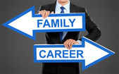 Family or career concept — Stock Photo