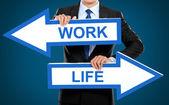 仕事と生活の概念 — ストック写真