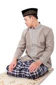 Man muslim doing prayer — Stock Photo