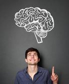 Young man with ideas — Stock Photo