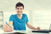 College student studying — Stock Photo