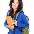 Nice female student smiling and looking at camera — Stock Photo