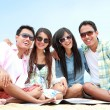 Group Of Friends Enjoying Beach Holiday — Stock Photo #44481099