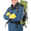 Male hiker with backpack — Stock Photo #46640949