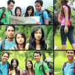 Collage photo of hiking people — Stock Photo #46641127