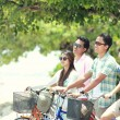 Friends having fun riding bicycle together — Stock Photo #47190847