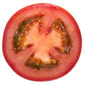 Fatia de tomate isolado no branco — Foto Stock