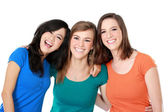 Multi racial three girls best friend — Stock Photo