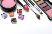 Decorative cosmetics isolated over white — Stock Photo