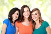 Multi racial three girls best friend — Stock Photo