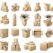 Set of cardboard boxes pile — Stock Photo #49107043
