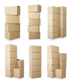 Piles of cardboard boxes — Stock Photo