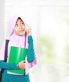 Muslim kid student thinking — Stockfoto