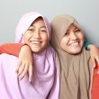 Two young muslim girl best friend — Stock Photo #49999861