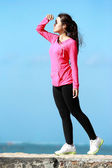 Casual portrait of sporty girl — Zdjęcie stockowe