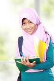 Muslim kid student study — Fotografia Stock