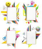Set of Notebook with stationary — Stock Photo