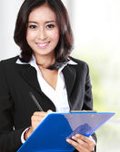 Beautiful businesswoman in office — Stock Photo