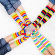 Colorful socks — Stock Photo