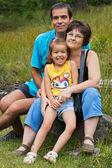 Happy family resting — Stock Photo