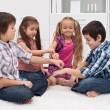 Children playing with fingers — Stock Photo #19361977