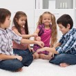 Children playing with fingers — Stock Photo