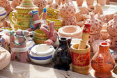 Ceramic objects and souvenirs — Stock Photo