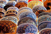Handmade Tunisian decorated plates — Stock Photo