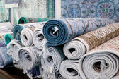 Handmade carpets in the tunisian Kairouan — Stock Photo