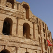 The roman amphitheater of El Djem in Tunisia — Stock Photo