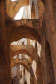 The roman amphitheater of El Djem in Tunisia — Stock Photo