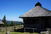 Old wooden stable in Romania — Stock Photo