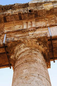 Detail of the greek temple of Segesta in Sicily — Stock Photo