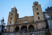 External view of the Cathedral of Cefalu' in Sicily — Stock Photo