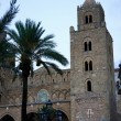 The norman cathedral of Cefalu' in Sicily - Stock Photo