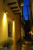 Pedestrian street of Cefalu' in Sicily — Stock Photo