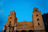The norman cathedral of Cefalu' in Sicily — Stock Photo