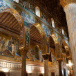 Internal view of the Palatine Chapel of Palermo in Sicily - Stock Photo