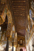 Interior view of the Palatine Chapel of Palermo in Sicily — Stock Photo
