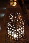 Metallic oriental lantern — Stock Photo