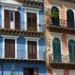 Colorful facades in the historical centre of Palermo,Sicily — Stock Photo