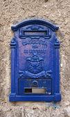 Blauwe italiaanse postvak — Stockfoto