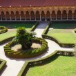 The cloister of the Monreale Cathedral in Sicily — Stock Photo