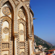 External view of the Cathedral of Monreale in Sicily — Stock Photo #13444103