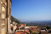 Palermo city from the roof of the Monreale Cathedral in Sicily — Stock Photo