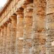 The colonnade of the greek temple of Segesta in Sicily — Stock Photo #13514914