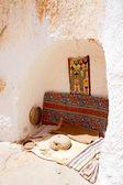 Troglodyte house in the Sahara desert of Africa — Stock Photo