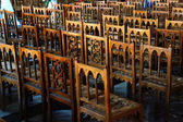 Wooden antique chairs — Stock Photo