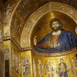 Apse of Monreale dome in Sicily — Stock Photo #15510243